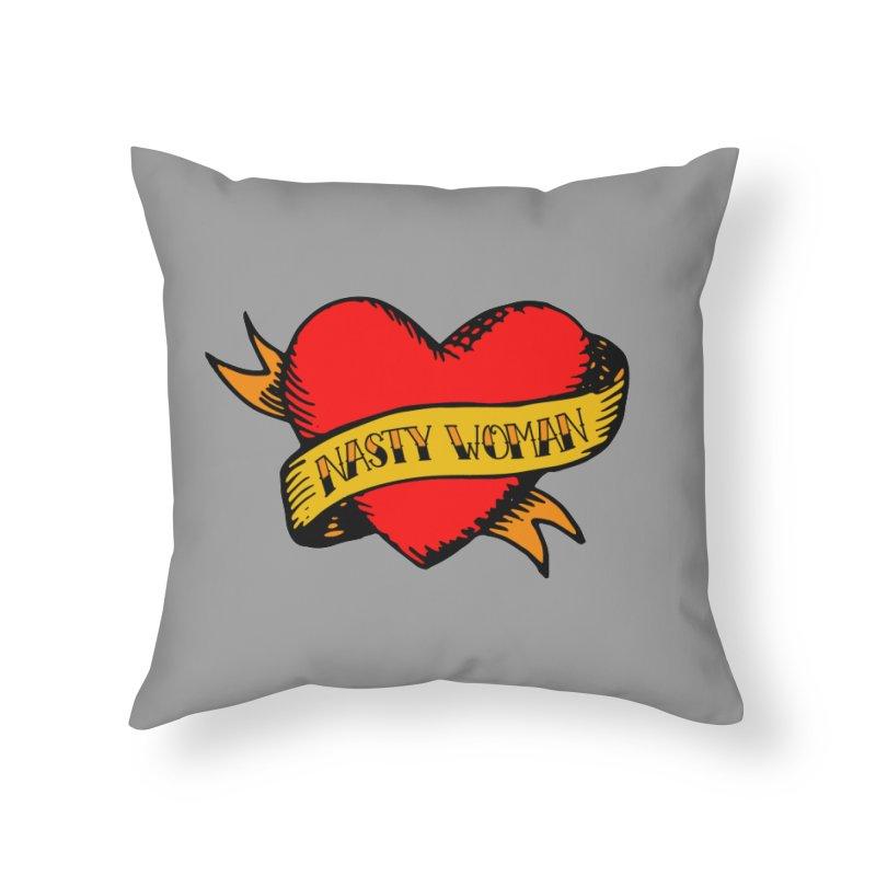 Hillary Clinton Nasty Woman Tattoo Home Throw Pillow by shaggylocks's Shop