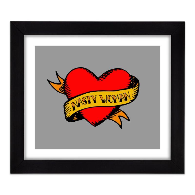 Hillary Clinton Nasty Woman Tattoo Home Framed Fine Art Print by shaggylocks's Shop