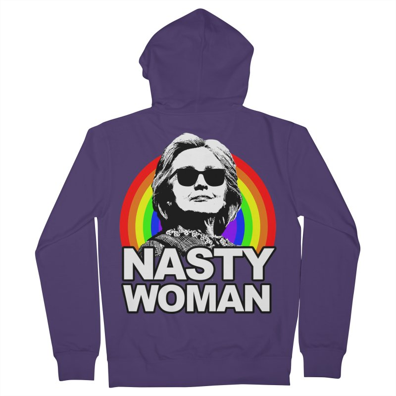 Hillary Clinton Nasty Woman Rainbow Women's Zip-Up Hoody by shaggylocks's Shop
