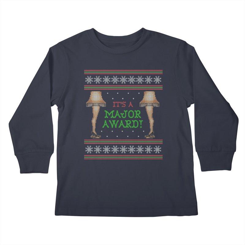 Christmas Story Leg Lamp - Ugly Christmas Sweater-Style Kids Longsleeve T-Shirt by shaggylocks's Shop