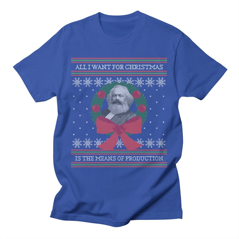 """""""Seize the Means of Production"""" Ugly Christmas Sweater Men's T-Shirt by shaggylocks's Shop"""