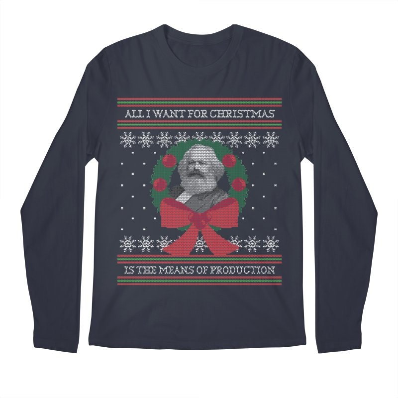 """""""Seize the Means of Production"""" Ugly Christmas Sweater Men's Longsleeve T-Shirt by shaggylocks's Shop"""