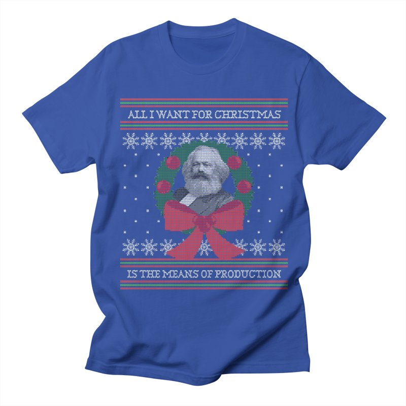 """Seize the Means of Production"" Ugly Christmas Sweater Men's T-Shirt by shaggylocks's Shop"