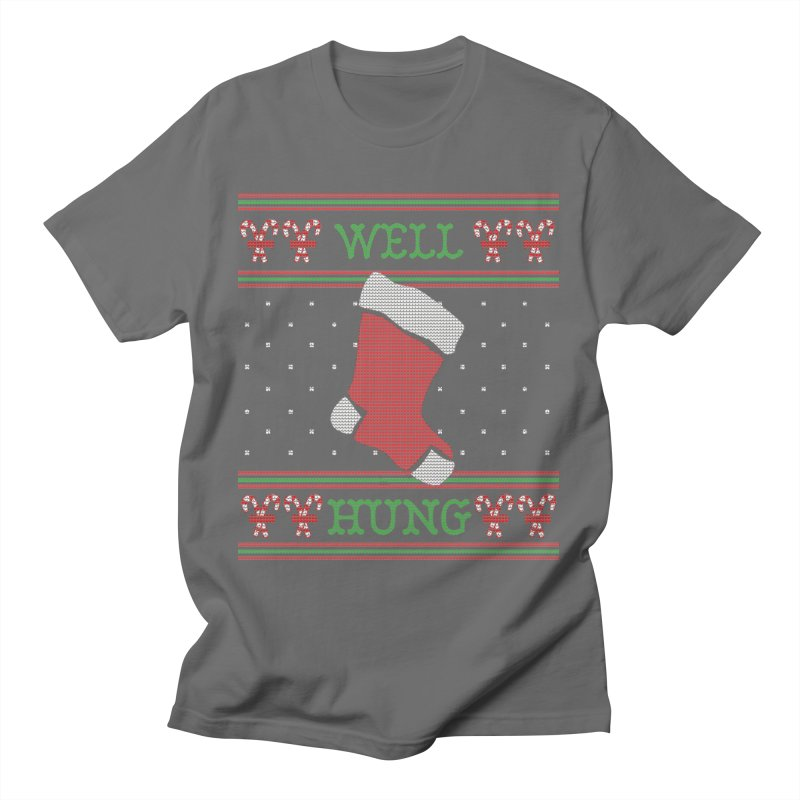Well Hung - Funny Ugly Christmas Sweater Men's T-Shirt by shaggylocks's Shop
