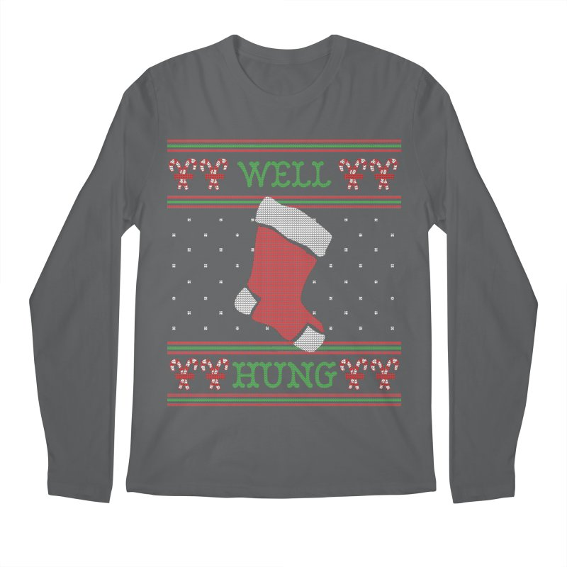 Well Hung - Funny Ugly Christmas Sweater Men's Longsleeve T-Shirt by shaggylocks's Shop