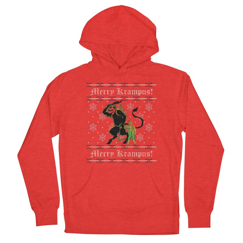 Merry Krampus! Funny Ugly Christmas Sweater Women's Pullover Hoody by shaggylocks's Shop
