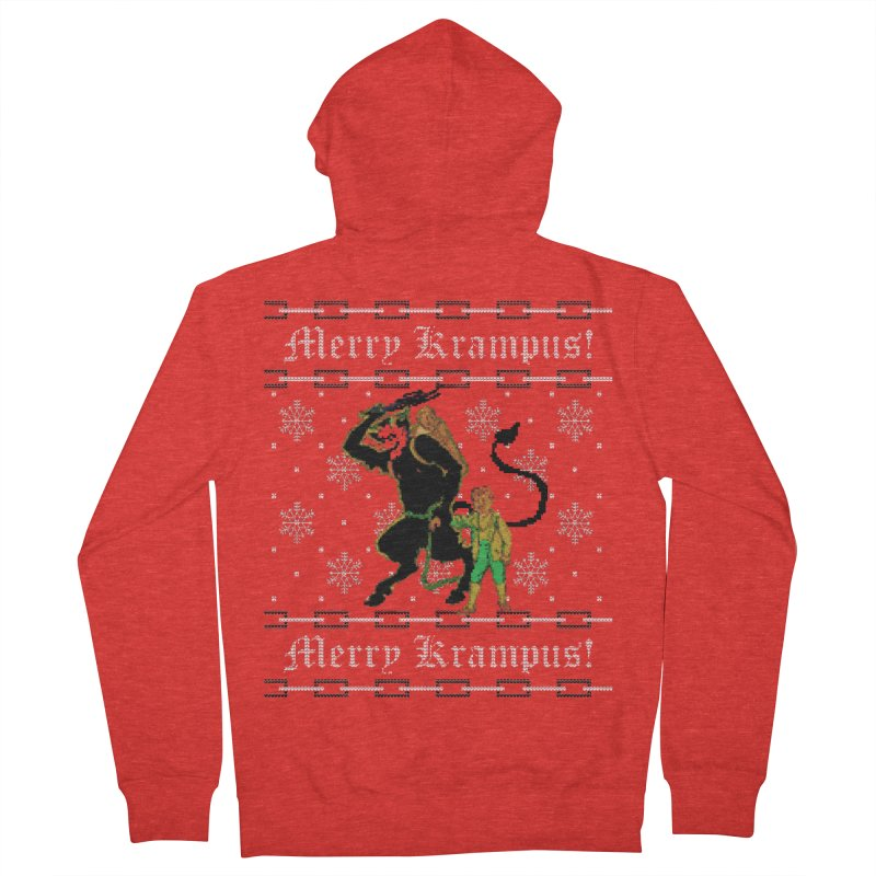Merry Krampus! Funny Ugly Christmas Sweater Men's Zip-Up Hoody by shaggylocks's Shop