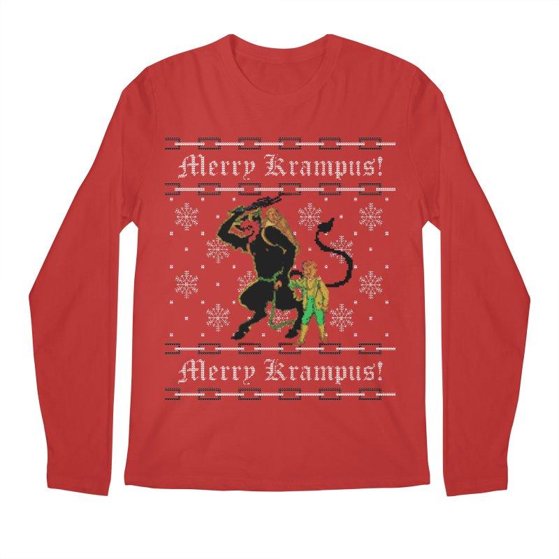 Merry Krampus! Funny Ugly Christmas Sweater Men's Longsleeve T-Shirt by shaggylocks's Shop