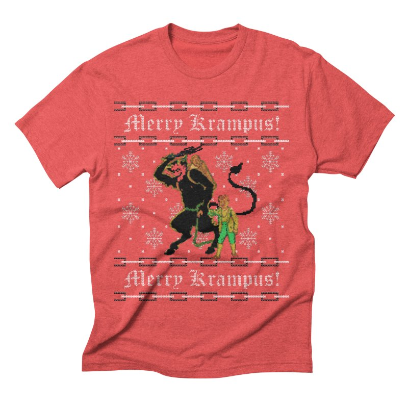 Merry Krampus! Funny Ugly Christmas Sweater Men's T-Shirt by shaggylocks's Shop