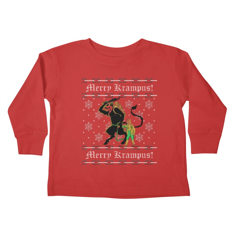 Merry Krampus! Funny Ugly Christmas Sweater Kids Toddler Longsleeve T-Shirt by shaggylocks's Shop