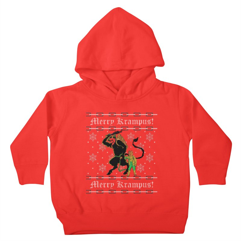Merry Krampus! Funny Ugly Christmas Sweater Kids Toddler Pullover Hoody by shaggylocks's Shop