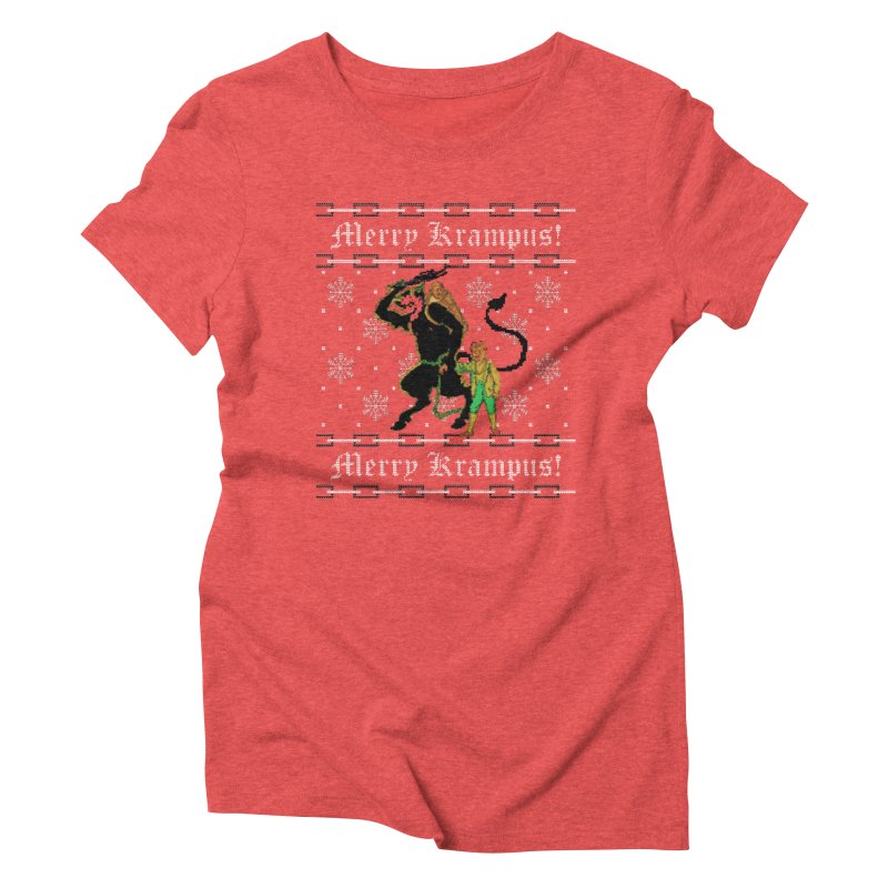 Merry Krampus! Funny Ugly Christmas Sweater Women's T-Shirt by shaggylocks's Shop