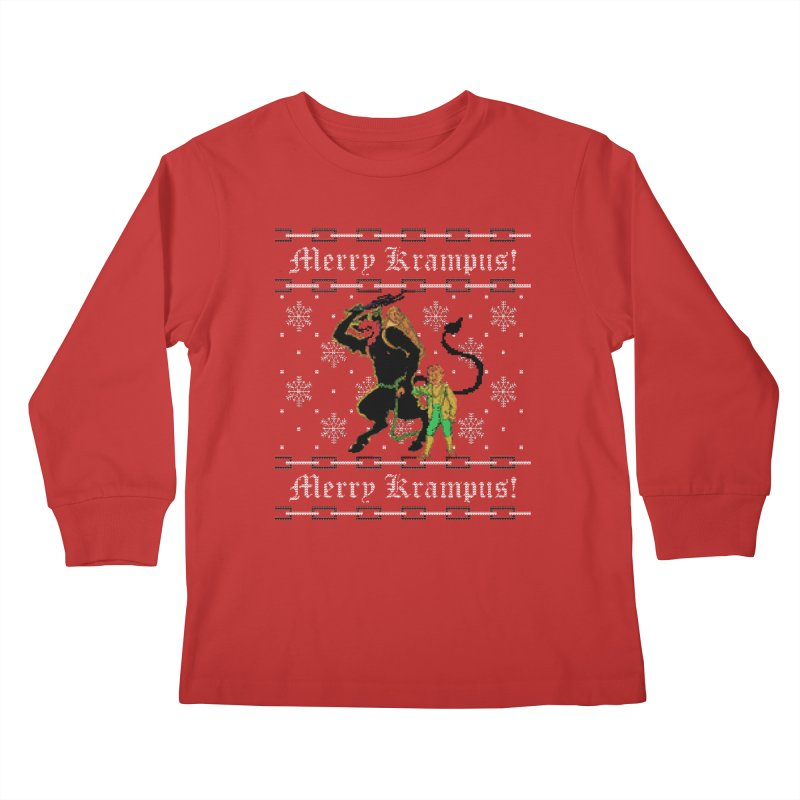 Merry Krampus! Funny Ugly Christmas Sweater Kids Longsleeve T-Shirt by shaggylocks's Shop