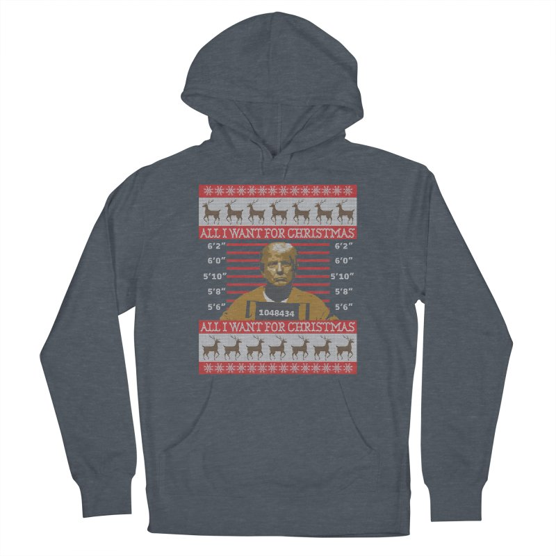 Trump in Prison Ugly Christmas Sweater Men's Pullover Hoody by shaggylocks's Shop