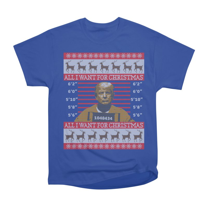 Trump in Prison Ugly Christmas Sweater Men's T-Shirt by shaggylocks's Shop