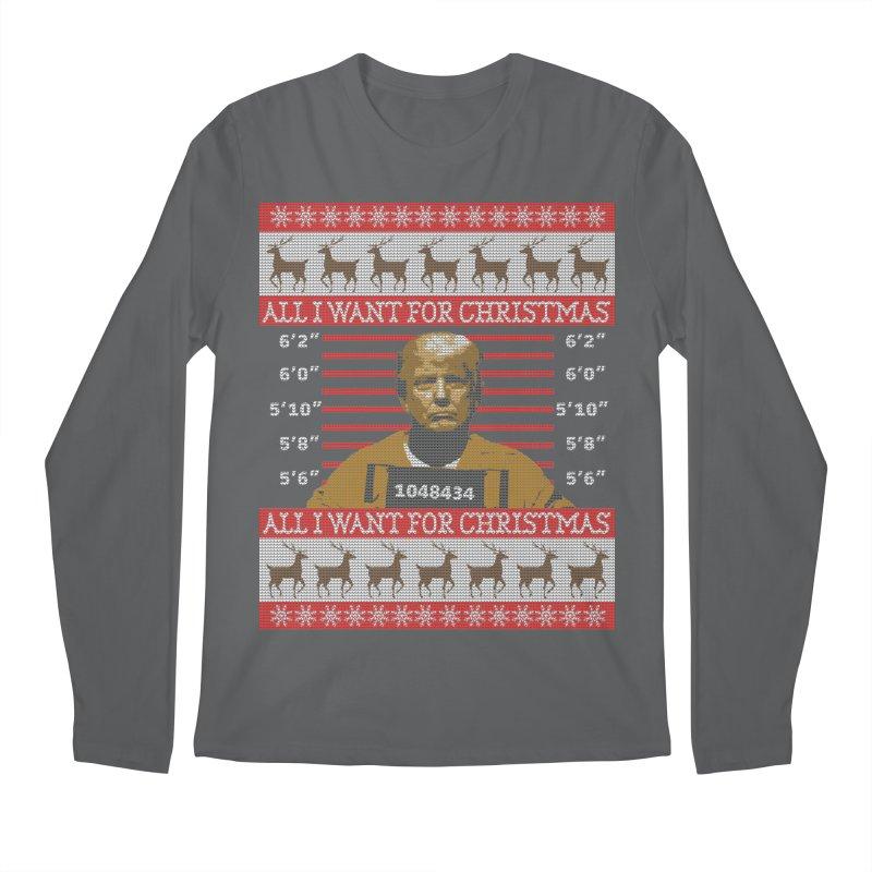 Trump in Prison Ugly Christmas Sweater Men's Longsleeve T-Shirt by shaggylocks's Shop