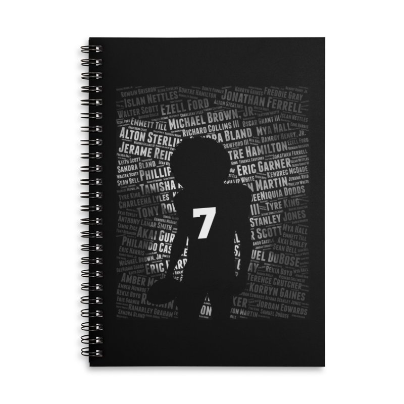 Black Lives Matter: Why Colin Kaepernick Takes a Knee Accessories Notebook by shaggylocks's Shop