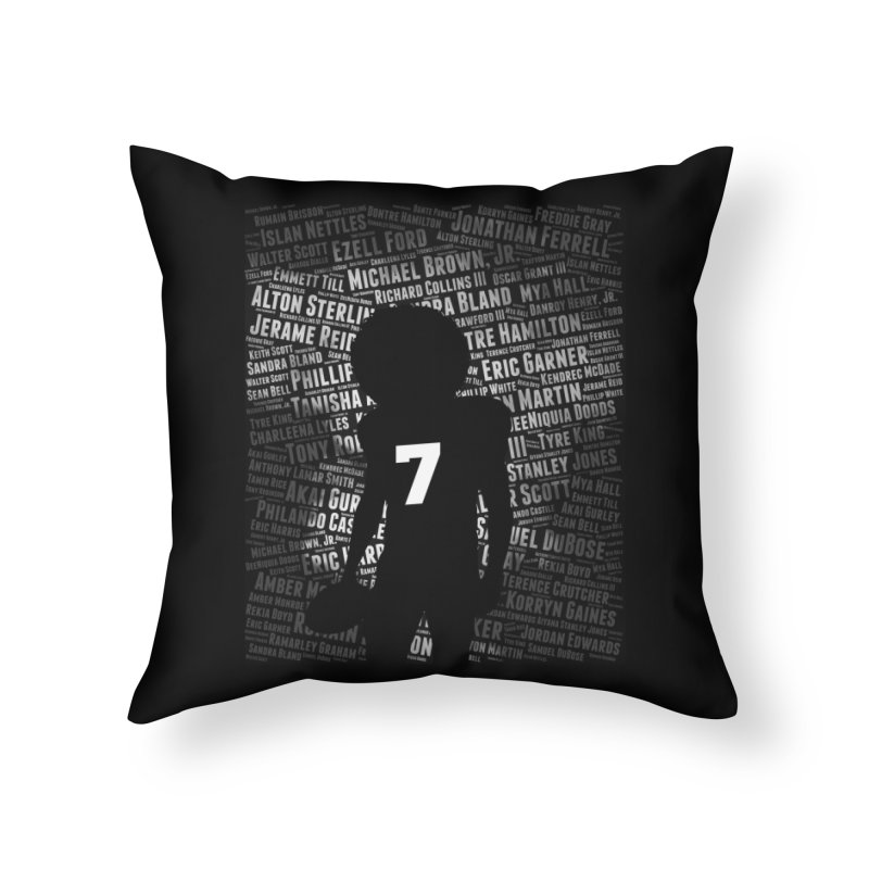Black Lives Matter: Why Colin Kaepernick Takes a Knee Home Throw Pillow by shaggylocks's Shop