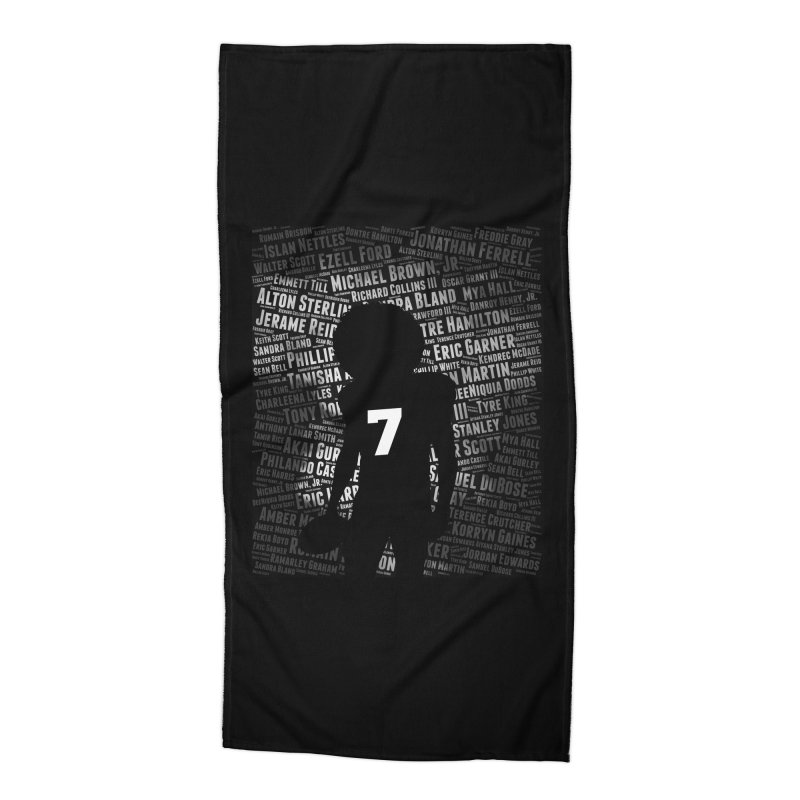 Black Lives Matter: Why Colin Kaepernick Takes a Knee Accessories Beach Towel by shaggylocks's Shop