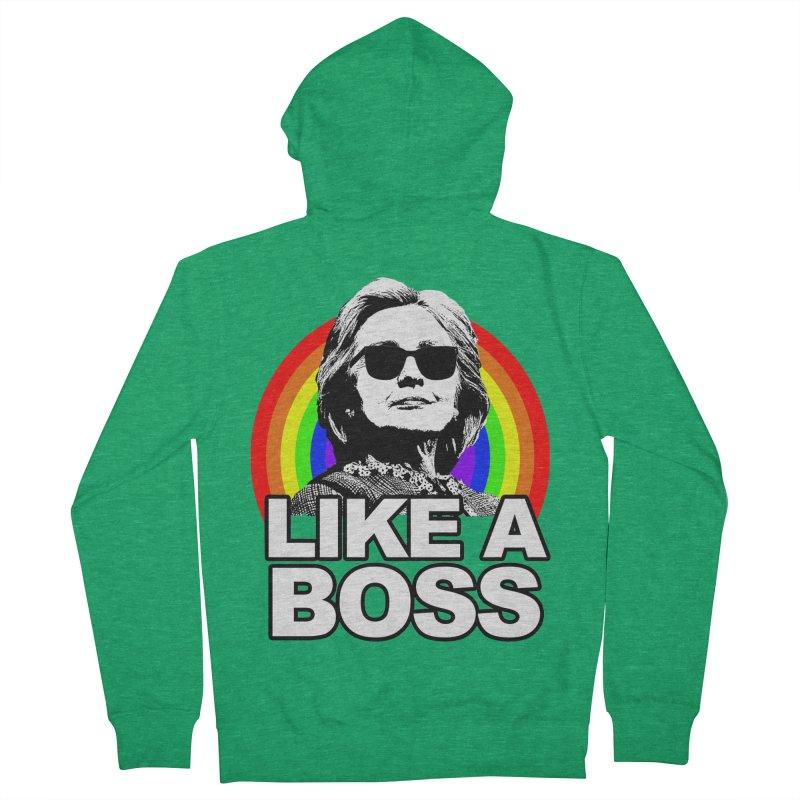 Hillary Clinton Like A Boss Women's Zip-Up Hoody by shaggylocks's Shop