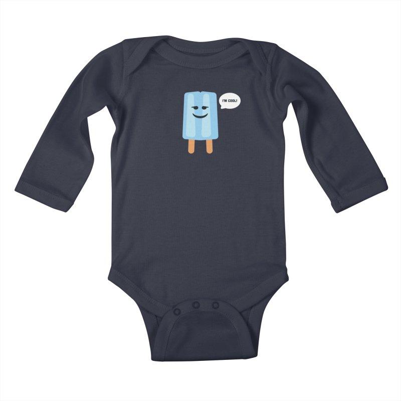 I'm Cool! Kids Baby Longsleeve Bodysuit by Shane Guymon Shirt Shop
