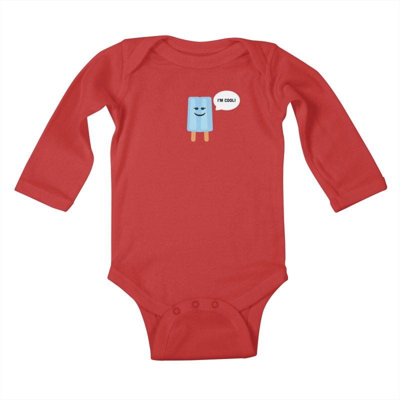 I'm Cool! Kids Baby Longsleeve Bodysuit by Shane Guymon