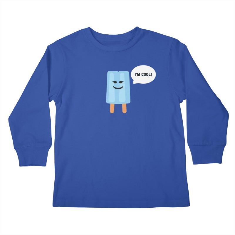 I'm Cool! Kids Longsleeve T-Shirt by Shane Guymon