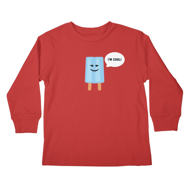 I'm Cool! Kids Longsleeve T-Shirt by Shane Guymon