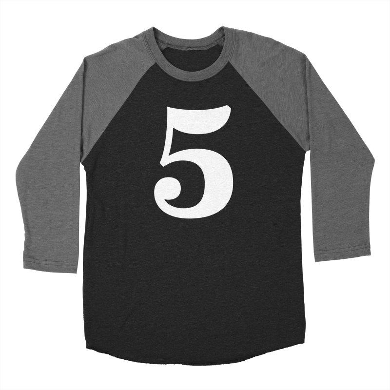 Five (5) Women's Baseball Triblend Longsleeve T-Shirt by Shane Guymon