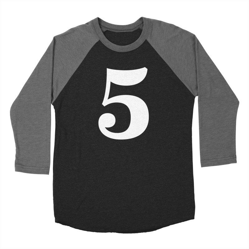 Five (5) Men's Baseball Triblend Longsleeve T-Shirt by Shane Guymon