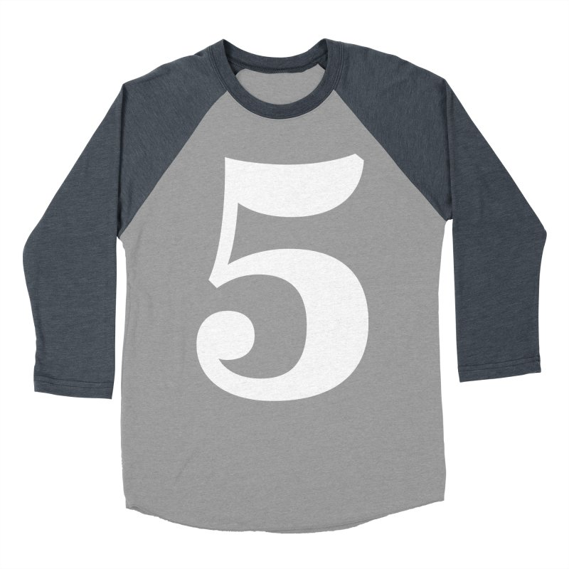 Five (5) Women's Baseball Triblend Longsleeve T-Shirt by Shane Guymon