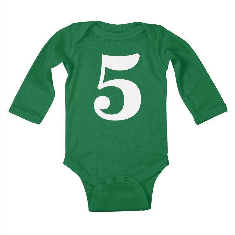 Five (5) Kids Baby Longsleeve Bodysuit by Shane Guymon