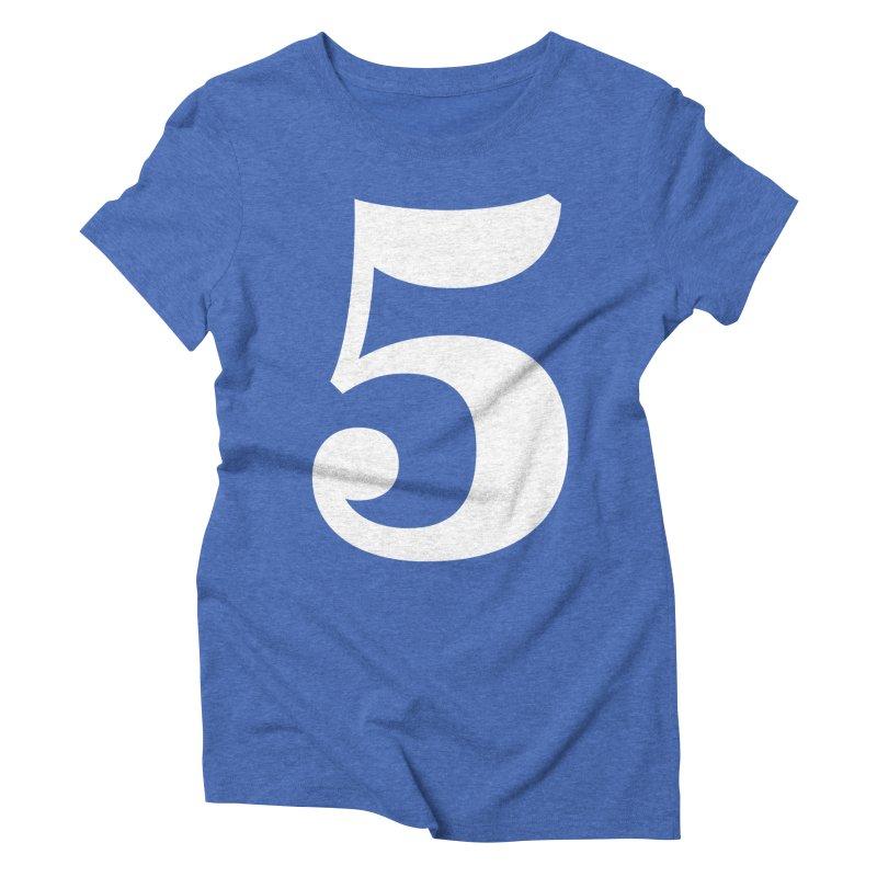 Five (5) Women's Triblend T-Shirt by Shane Guymon