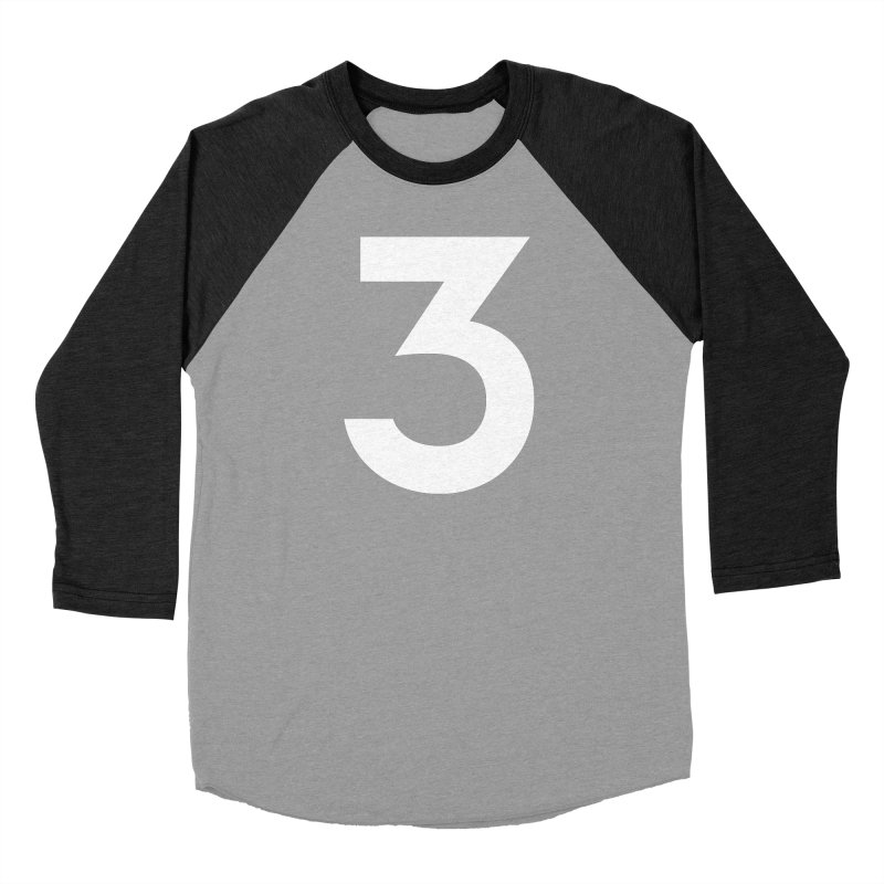 Three Women's Baseball Triblend Longsleeve T-Shirt by Shane Guymon