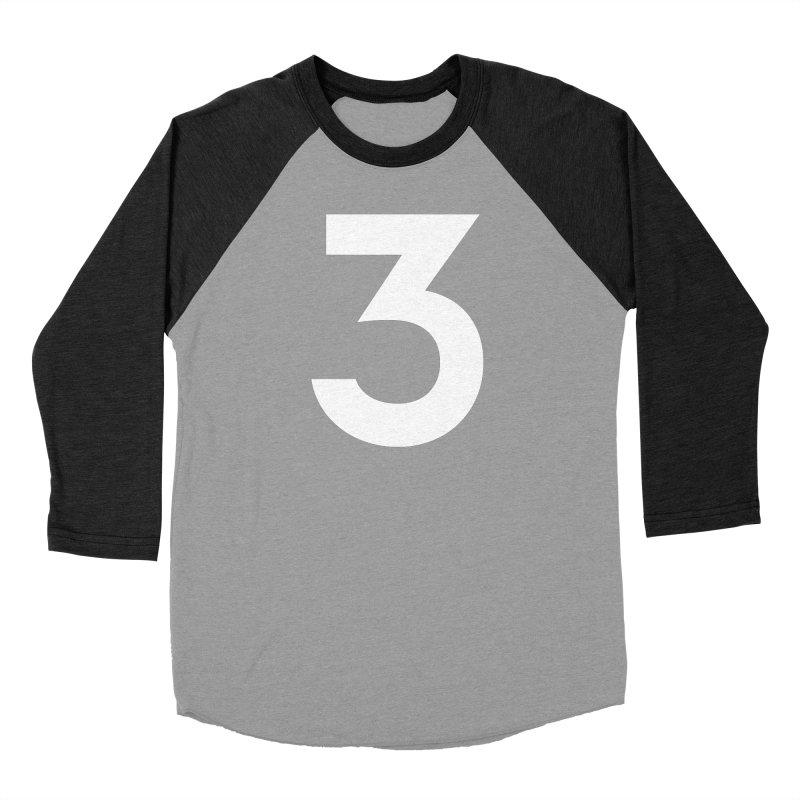 Three Men's Baseball Triblend Longsleeve T-Shirt by Shane Guymon