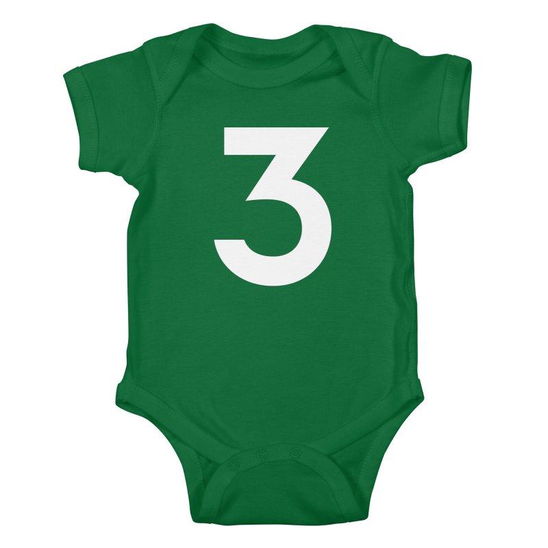 Three Kids Baby Bodysuit by Shane Guymon Shirt Shop