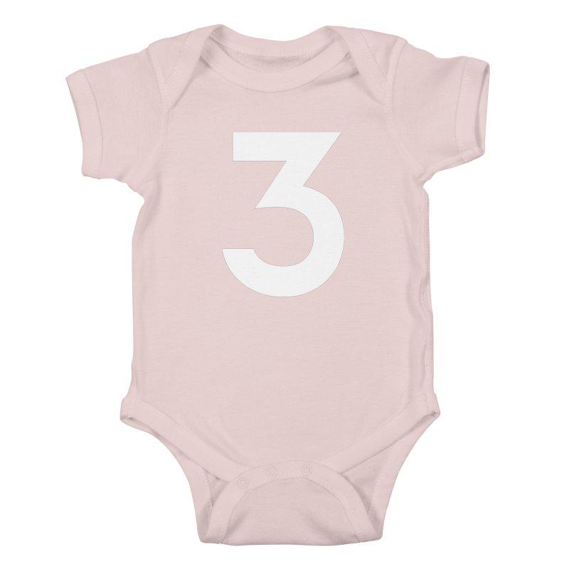 Three Kids Baby Bodysuit by Shane Guymon