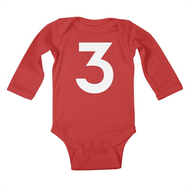 Three Kids Baby Longsleeve Bodysuit by Shane Guymon