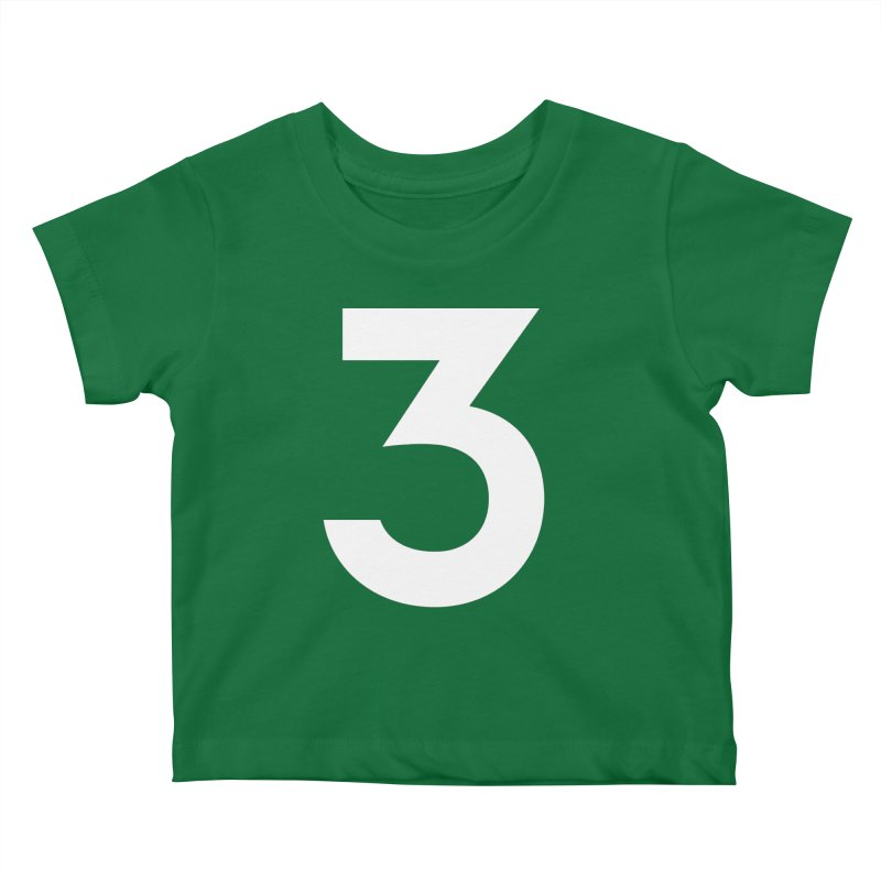 Three Kids Baby T-Shirt by Shane Guymon Shirt Shop