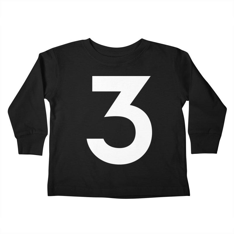 Three Kids Toddler Longsleeve T-Shirt by Shane Guymon Shirt Shop