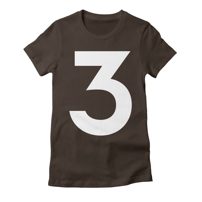 Three Women's Fitted T-Shirt by Shane Guymon