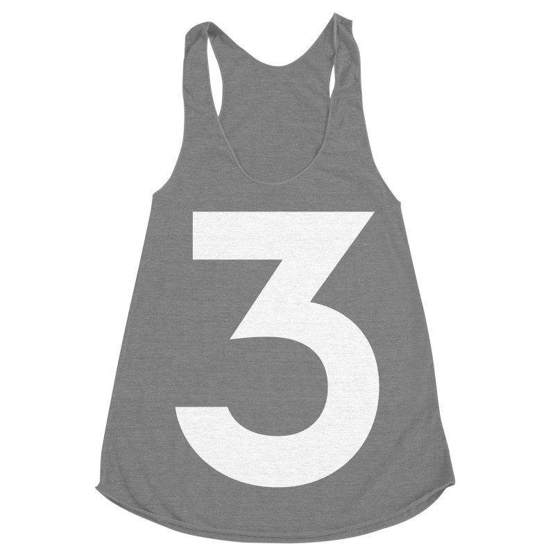 Three Women's Racerback Triblend Tank by Shane Guymon