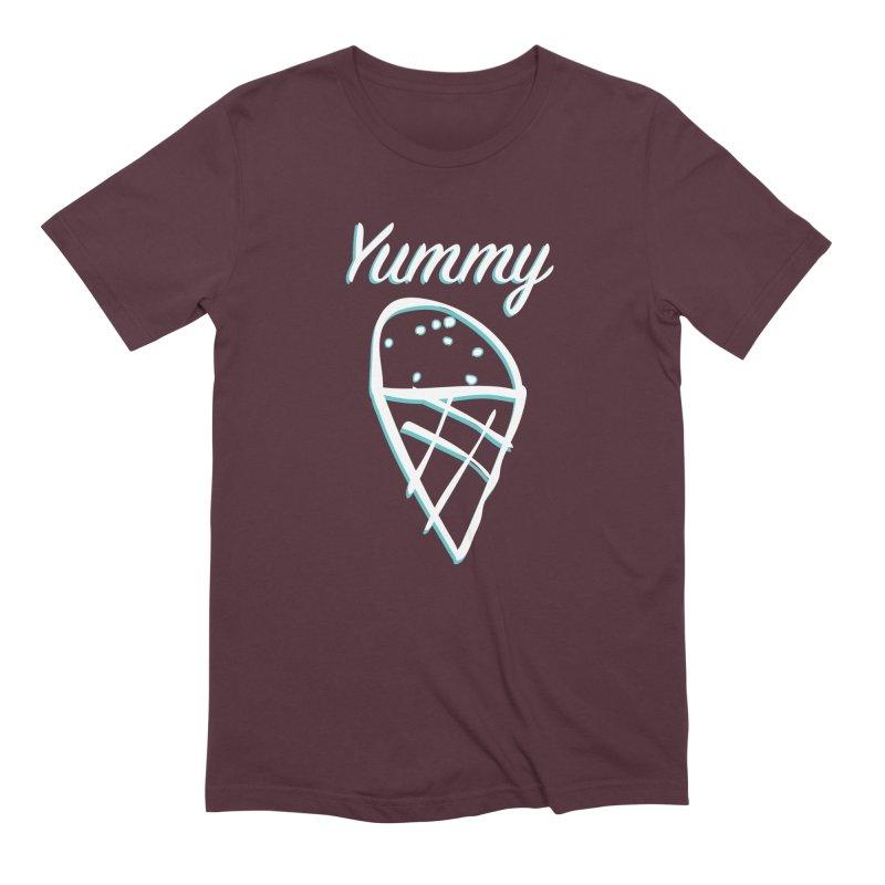 Yummy (white) Men's T-Shirt by Shane Guymon Shirt Shop