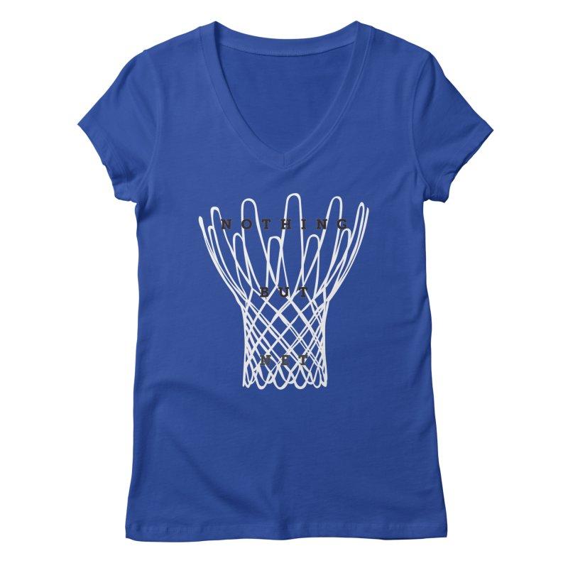 Nothing But Net Women's V-Neck by Shane Guymon Shirt Shop