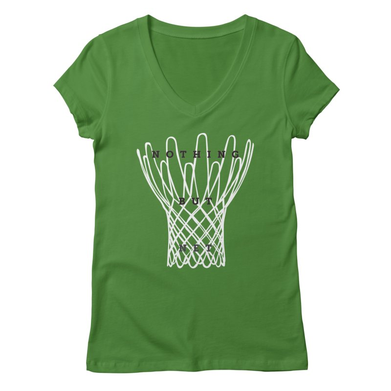 Nothing But Net Women's Regular V-Neck by Shane Guymon