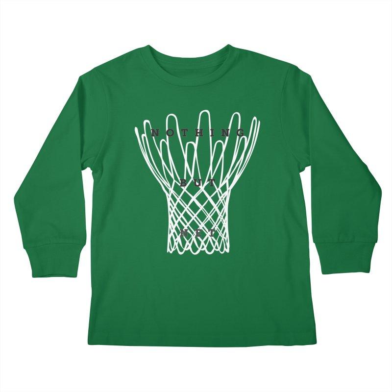 Nothing But Net Kids Longsleeve T-Shirt by Shane Guymon Shirt Shop