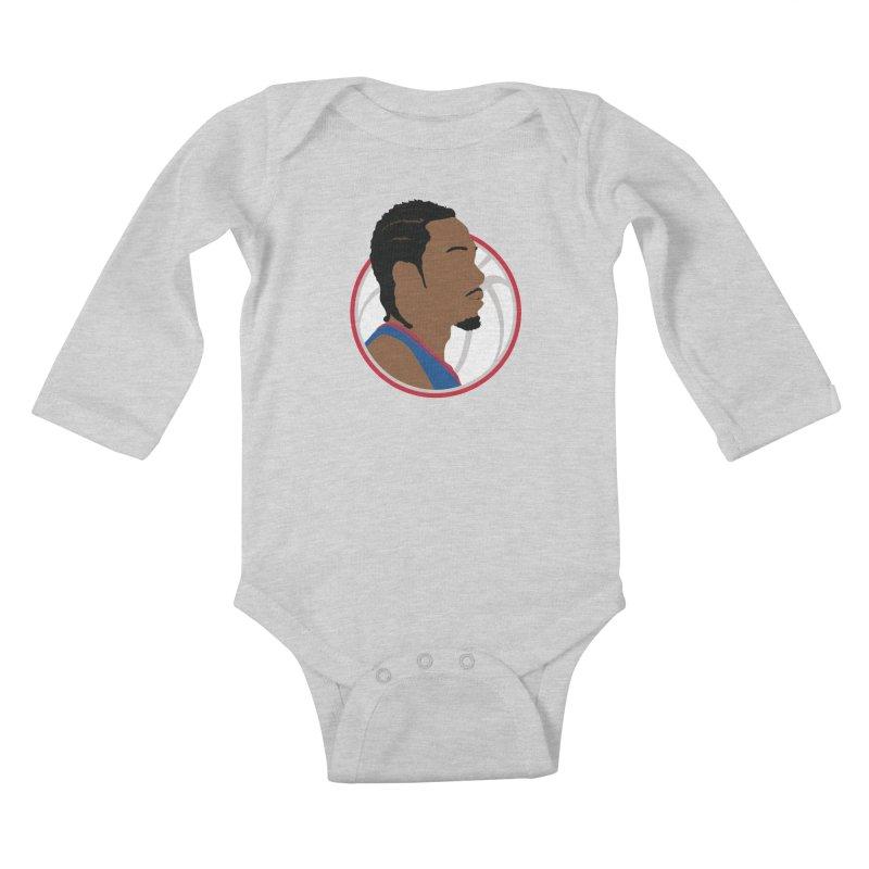 Kawhi Leonard Kids Baby Longsleeve Bodysuit by Shane Guymon Shirt Shop