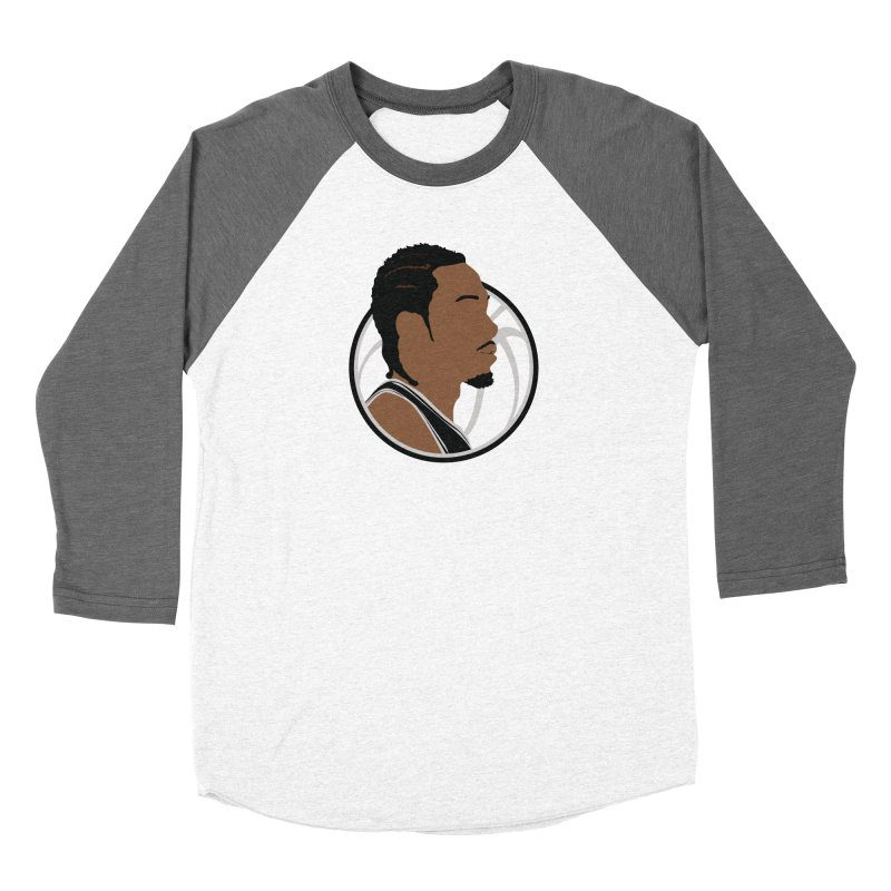 Kawhi Leonard Women's Baseball Triblend Longsleeve T-Shirt by Shane Guymon