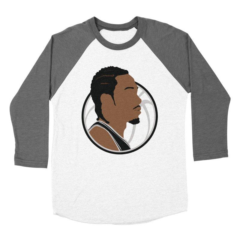 Kawhi Leonard Men's Baseball Triblend Longsleeve T-Shirt by Shane Guymon