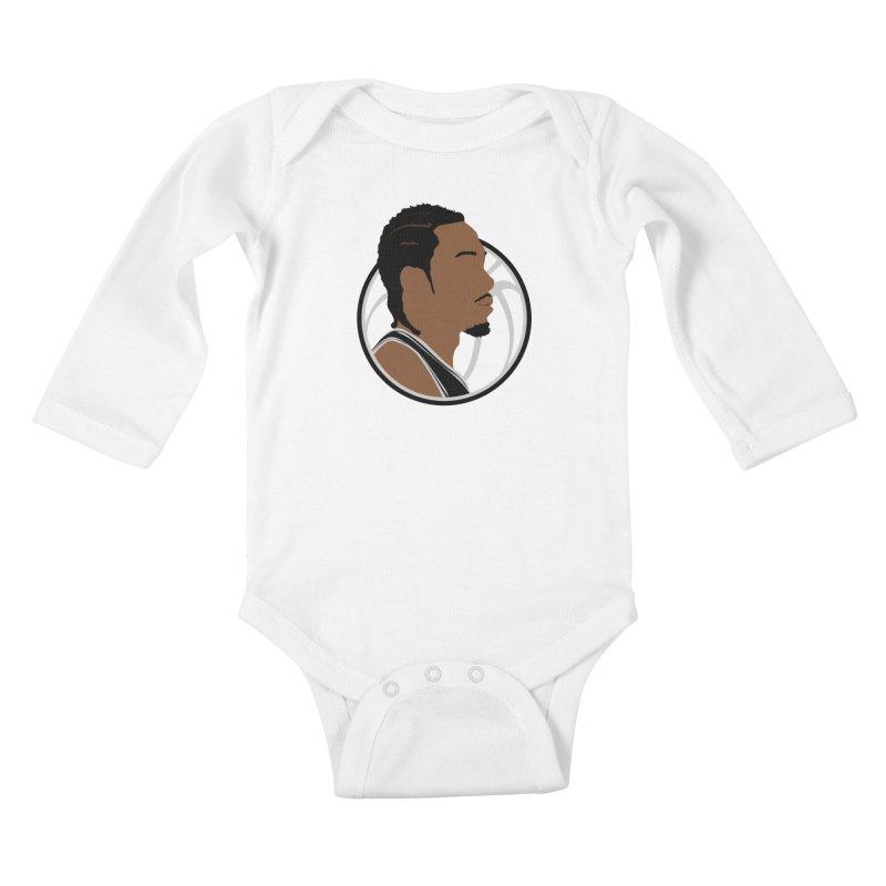 Kawhi Leonard Kids Baby Longsleeve Bodysuit by Shane Guymon